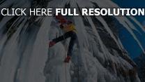 grimpeur montagne glaçon autriche