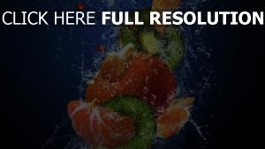 kiwi orange éclaboussure