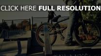vélo gros plan flou