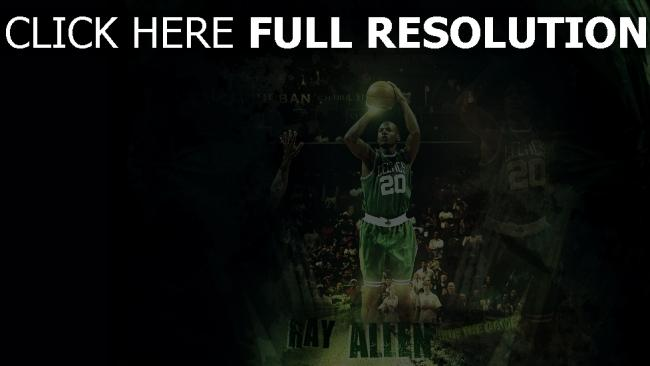fond d'écran hd ray allen basket-ball nba