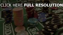 table jetons poker