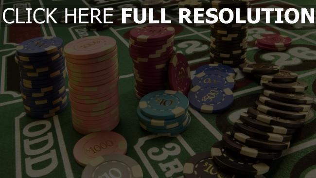 fond d'écran hd table jetons poker