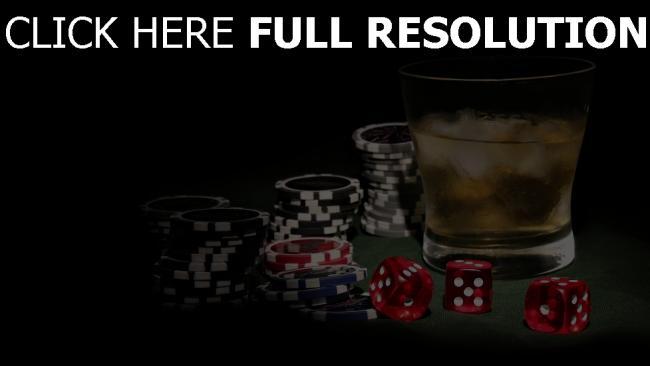 fond d'écran hd jetons poker verre whisky