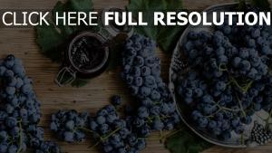 raisins bois vue d'en haut