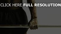 muscles barre à disques bras