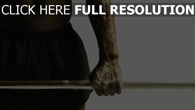 fond d'écran hd muscles barre à disques bras