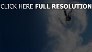 snowboard ciel neige