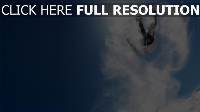 fond d'écran hd snowboard ciel neige