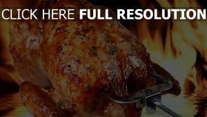 poulet fried flamme