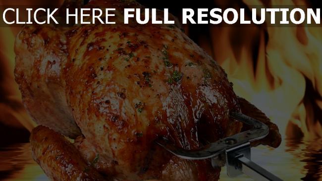 fond d'écran hd poulet fried flamme