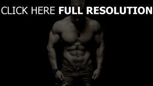 channing tatum muscles torse noir et blanc