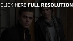 ian somerhalder paul wesley coiffure journal d'un vampire