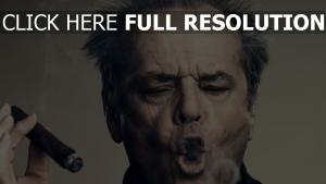 jack nicholson cigare visage grimace