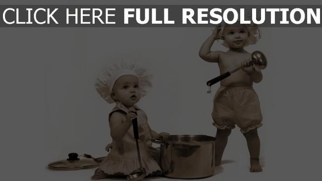 fond d'écran hd enfant cuisinier noir et blanc