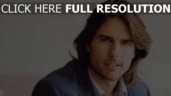 fond d'écran hd tom cruise visage cheveux longs acteur