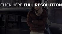 modèle masculin doudoune écharpe