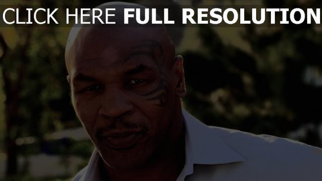 fond d'écran hd mike tyson visage tatouage boxeur