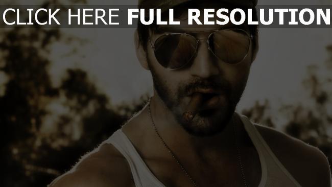 fond d'écran hd mercenaire lunettes de soleil cigare visage