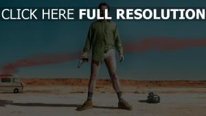 breaking bad desert walter white chemise pistolet
