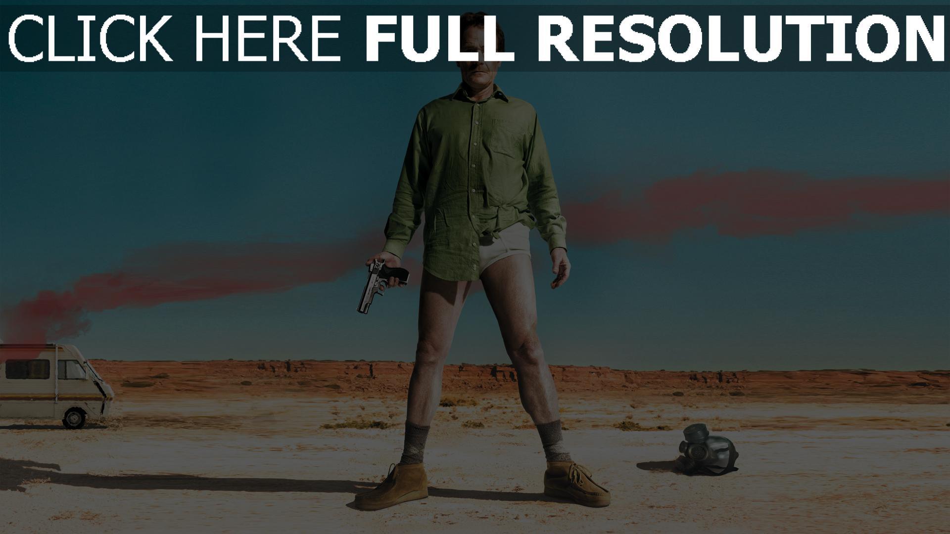 Fond Décran Hd Breaking Bad Desert Walter White Chemise Pistolet