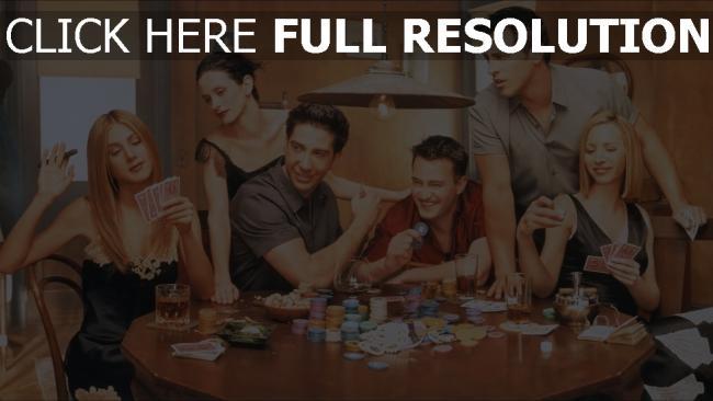 fond d'écran hd friends personnages principaux poker