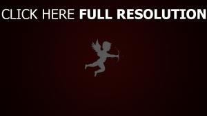 ange silhouette vineux arrière-plan
