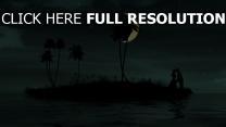 île tropical nuit couple