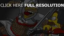 homer simpson assassin épée