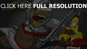 homer simpson assassin épée