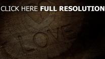 bois inscription cœur