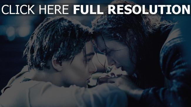 fond d'écran hd titanic leonardo dicaprio couple triste