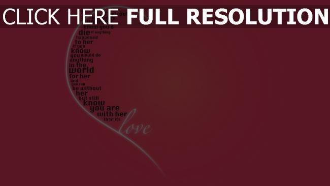 fond d'écran hd cœur rose inscription