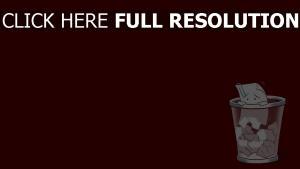 poubelle papier rouge