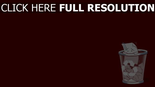 fond d'écran hd poubelle papier rouge