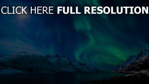 aurore polaire nuit parc national du mont rainier