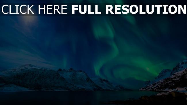 fond d'écran hd aurore polaire nuit parc national du mont rainier