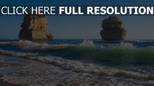 vague roche mousse côte australie