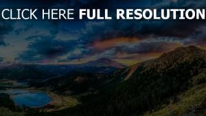 montagne forêt vue aérienne parc national de yosemite