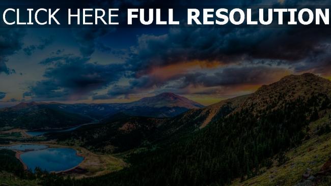 fond d'écran hd montagne forêt vue aérienne parc national de yosemite