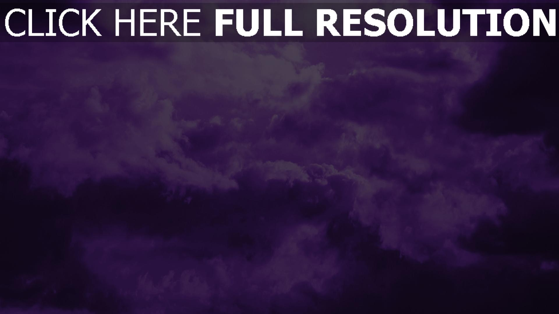 fond d'écran 1920x1080 nuage pourpre arrière-plan