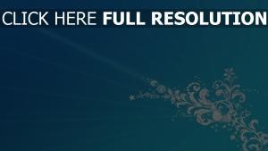 motif givré rayon bleu