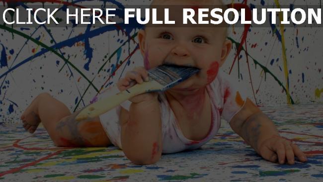 fond d'écran hd enfant peinture désordre