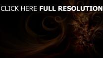 spirale structure foncé lumineux