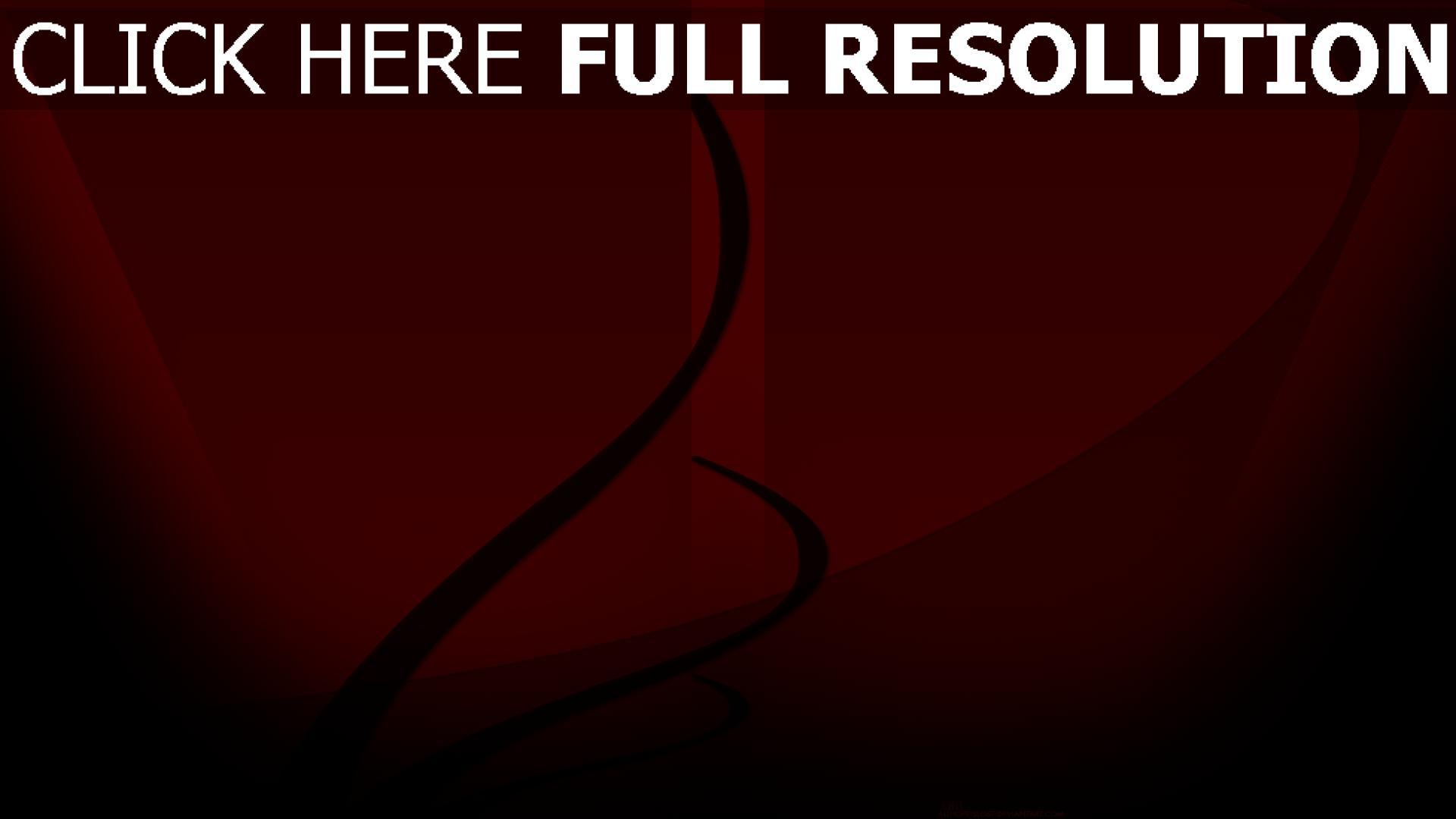 fond d'écran 1920x1080 courbe foncé rouge