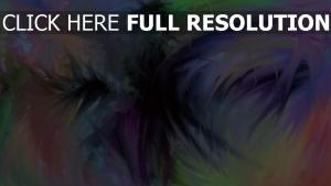entonnoir multicolore peinture