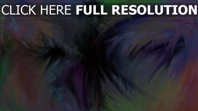 fond d'écran hd entonnoir multicolore peinture
