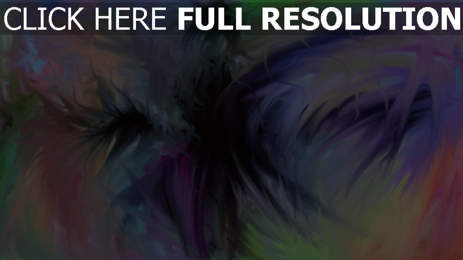 fond d'écran 1920x1080 entonnoir multicolore peinture
