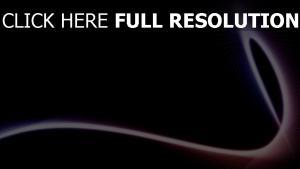 courbe illuminée noir arrière-plan
