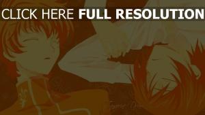suzaku kururugi lelouch orange