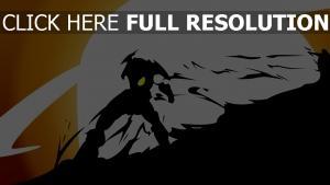gurren lagann foncé silhouette